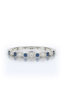 Henri Daussi 18k .12ctw Blue Sapphire And Diamond Band R26-6H product image