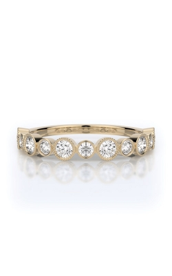 Henri Daussi 14k Yellow Gold .55ctw Diamond Wedding Band R28-8H product image