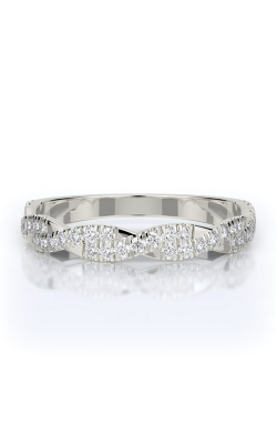 Henri Daussi 14k White Gold .42ctw Diamond Wedding Band R31-1H product image