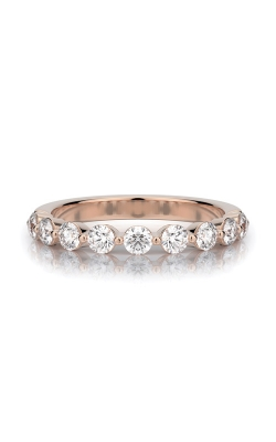 Henri Daussi 14k Rose Gold .70ctw Diamond Wedding Band R32-7H product image