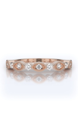 Henri Daussi 14k Rose Gold .30ctw Diamond Wedding Band R37-2H product image