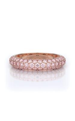 Henri Daussi 14k White Gold 1ct Light Pink Diamond Wedding Band R3-2H product image