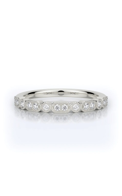 Henri Daussi 14k White Gold .16ctw Pave Wedding Band R43-1H product image