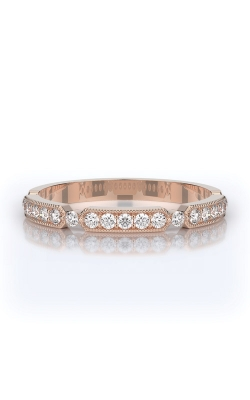 Henri Daussi 18k Rose Gold .25ctw Diamond Wedding Band R44-2H product image