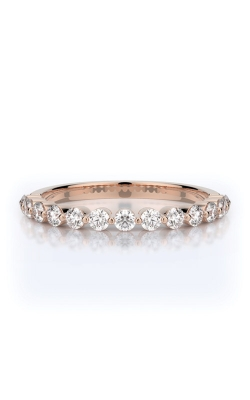 Henri Daussi 14k Rose Gold .50ctw Diamond Wedding Band R6-7H product image