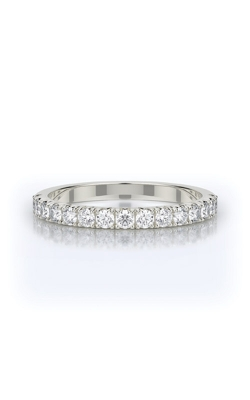 Henri Daussi 14k White Gold Diamond Pave Wedding Band WBSR Z product image