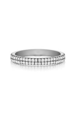 Henri Daussi Platinum .30 Ctw 2 Row Wedding Band WBXX product image