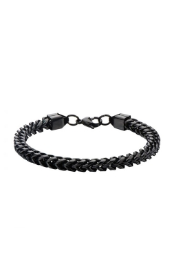 Inox Stainless Steel Black Franco Chain Bracelet BR11416K product image