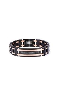 Inox Stainless Steel Black And Rose CZ Bracelet BR22033 product image
