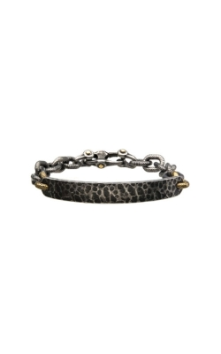 Inox Stainless Steel Antique Curb Bracelet BR22158 product image