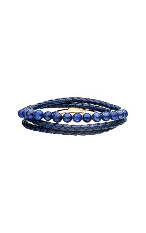 Inox Blue Leather and Bead Bracelet Set BR25660BLU product image