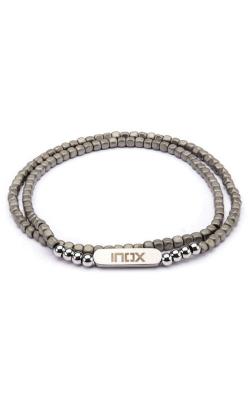 Inox  6mm Grey Hematite Cube & Steel Beads Bracelet BR621 product image