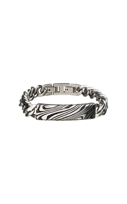 Inox Stainless Steel And Black Damascus Bracelet BRDMS013K  product image