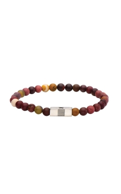 Inox Mookaite Gemstone Stretch Bracelet with Steel Accent BREL01 product image
