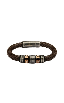 Inox Stainless Steel Brown Leather Bracelet BRLB869 product image