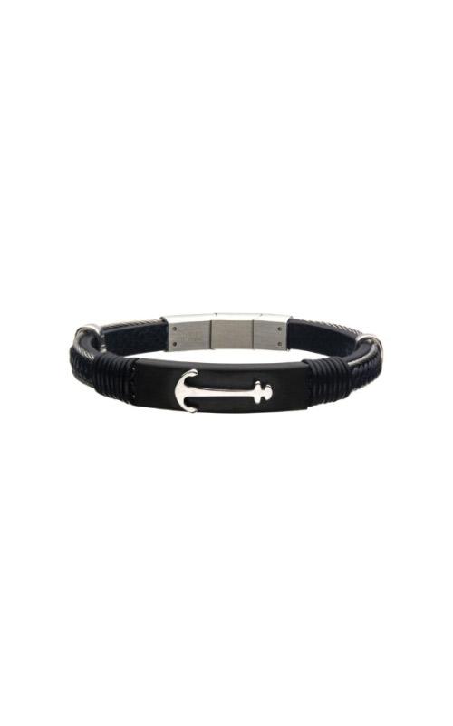 Inox Steel Leather Anchor Bracelet BRLBA1 product image