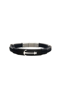 Inox Steel Leather Anchor Bracelet BRLBA1 product image