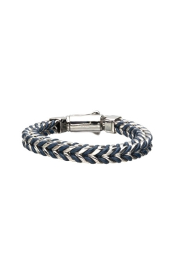 Inox Stainless Steel 10mm Blue Leather Bracelet BRSWIRB015SB product image
