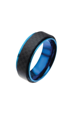 Inox Blue Plated And Carbon Fiber Ring FRCF0983B-9 product image