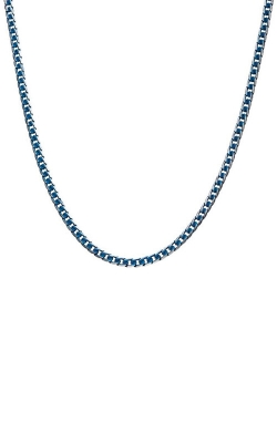 Inox Stainless Steel Blue Plated Curb Cuban Chain NSTC27851BL-22 product image
