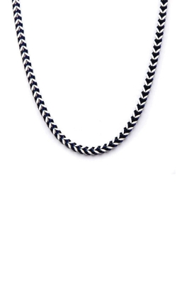 Inox Steel Blue Plated Franco Chain Necklace NSTC7624B-22 product image