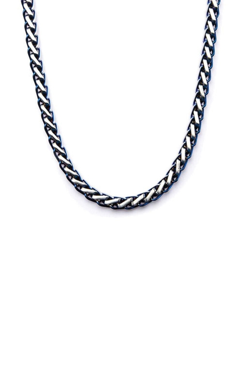 Inox Stainless Steel Blue Plated Franco Chain NSTC7626B-24 product image