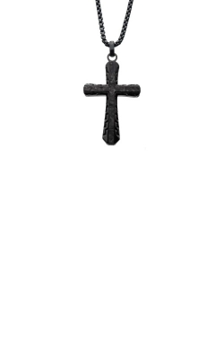 Inox Stainless Steel 24 Inch Graphite Cross Necklace SSP007ENK1 product image