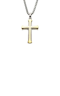 Inox Stainless Steel 24 Inch Apostle Cross Necklace SSP009BNK1 product image