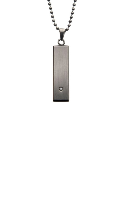 Inox 2mm Stainless Steel CZ Necklace SSP12732NK product image