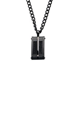 Inox Stainless Steel Black Cable Dog Tag SSP17269NK product image
