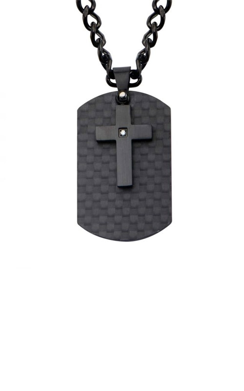 Inox Stainless Steel Black Cross Dog Tag SSP18000NK1 product image