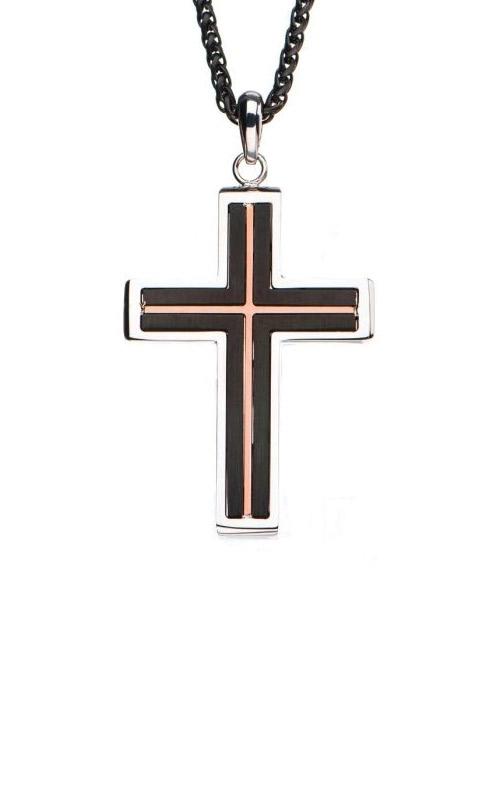 Inox Stainless Black & Rose Cross Pendant SSP195771NK product image