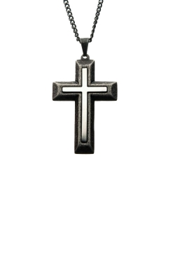 Inox Stainless Steel Cross Necklace SSPAT017NK1 product image