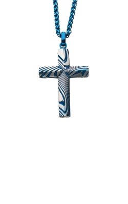 Inox Stainless Steel Blue Damascus Cross SSPDMS0541BNK1 product image