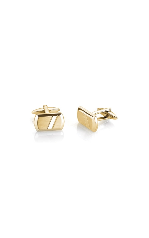 Italgem Steel Stainless Steel Gold Cufflinks CL42 product image