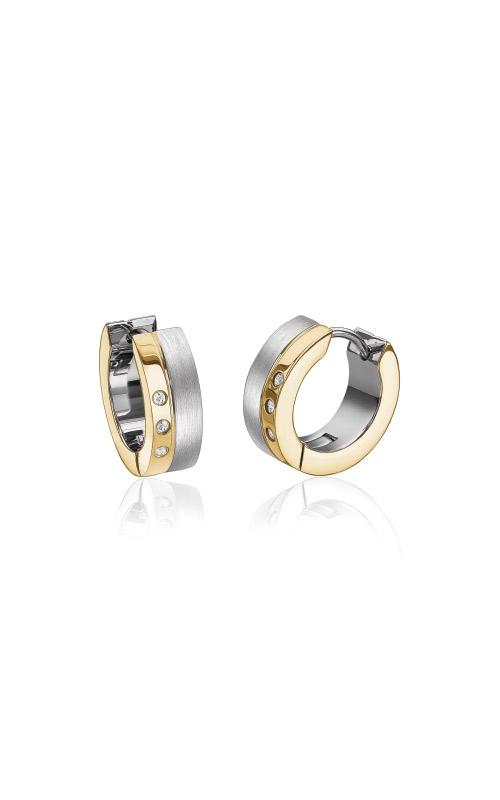 Italgem Steel Stainless Steel CZ Huggie Earrings SEA235 product image