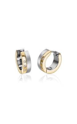 Italgem Steel Stainless Steel CZ Huggie Earrings SEA235 product image