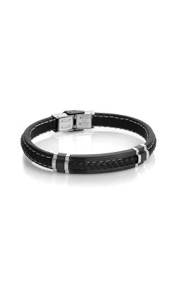 Italgem Steel Stainless Steel Italian Leather Bracelet SLB292 product image