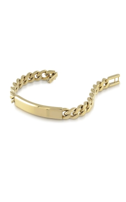 Italgem Steel Stainless Steel Gold Curb ID Bracelet SMB11 product image
