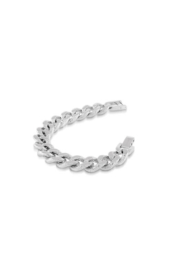 Italgem Steel Stainless Steel Diamond Cut Curb Bracelet SMB72 product image