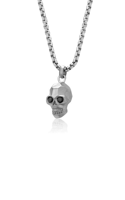 Italgem Steel Stainless Steel Skull Necklace SP95 product image
