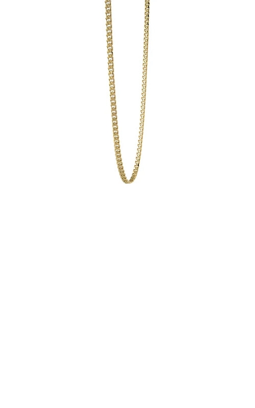 Italgem Steel Steel and Gold Plated 22 inch 4.6mm Curb Chain SYN8 product image