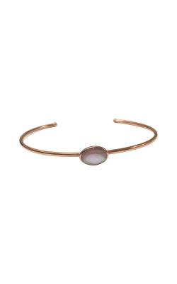 Kabana 14k Rose Gold Pink Mother Of Pearl Bangle Bracelet NBRC531MP product image