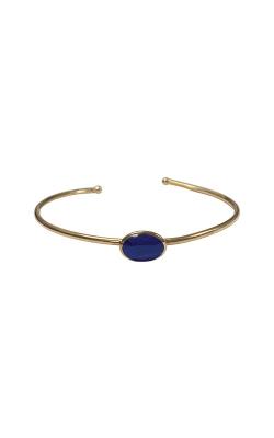 14k Yellow Gold Lapis Bangle Bracelet GBRC531LL product image