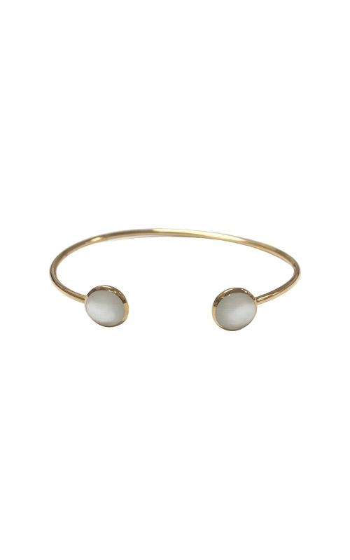 Kabana 14k Yellow Gold White Mother of Pearl Bracelet Bangle GBRC532MW product image