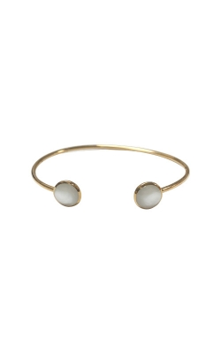 Kabana 14k Yellow Gold White Mother of Pearl Bracelet Bangle GBRC532MW product image