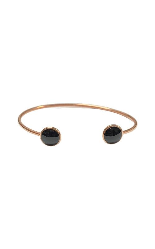 Kabana 14k Rose Gold Onyx Bangle Bracelet NBRC532OX product image