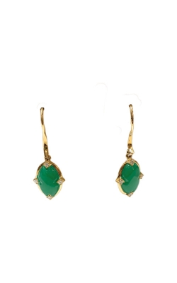 Kabana 14k Yellow Gold Chrysoprase And Diamond Earrings GECF582CP product image