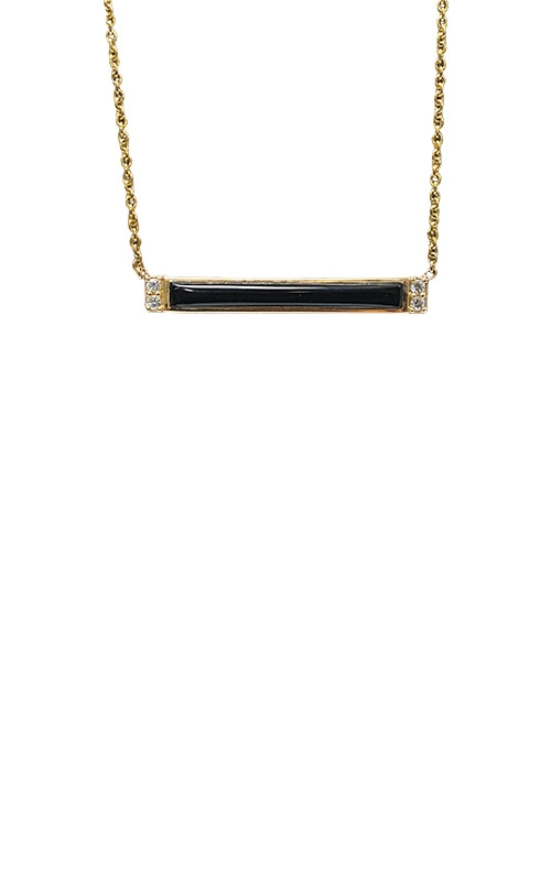 Kabana 14k Yellow Gold Onyx and Diamond Necklace GPIF158OX-CH product image