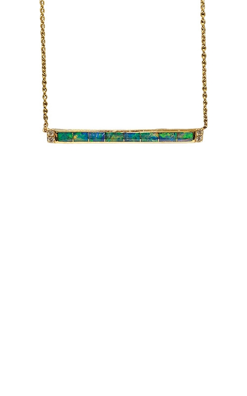 Kabana 14k Yellow Gold Opal and Diamond Necklace GPIF336XX-CH product image